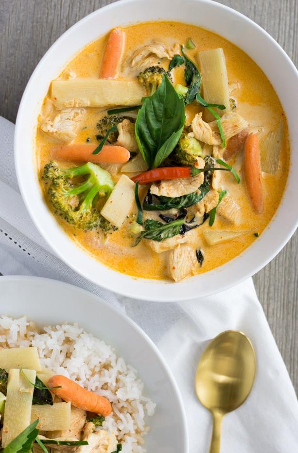 Thai Red Curry Chicken- thaicaliente.com