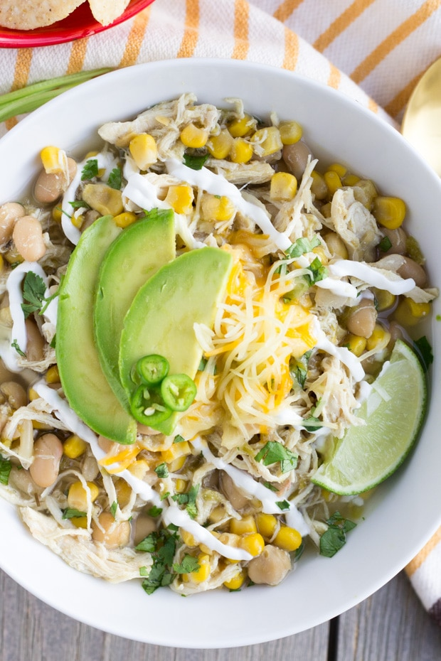 White Chicken Chili Instant Pot or Slow Cooker- Thaicaliente.com