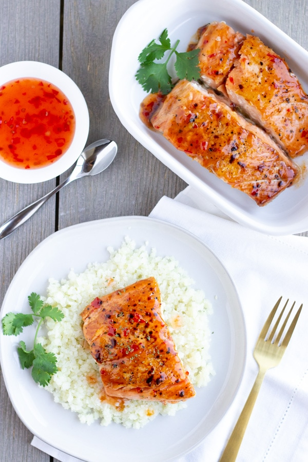 2 Ingredient Thai Sweet Chili Salmon- ThaiCaliente.com