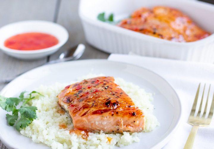 2 Ingredient Thai Sweet Chili Salmon- ThaiCaliente.com