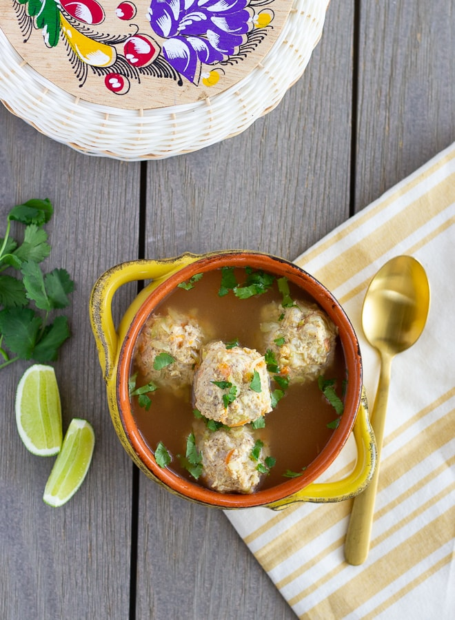Chicken Albondigas- Mexican meatball soup