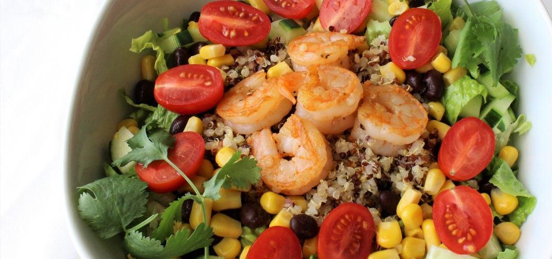 Shrimp Burrito Bowl with Cilantro Lime Quinoa- thaicaliente.com