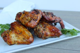 Grilled Thai Chicken Wings, cooked on indirect heat for juicy, flavorful wings.
