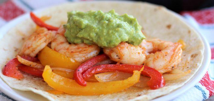 Skillet Shrimp Fajitas- thaicaliente.com