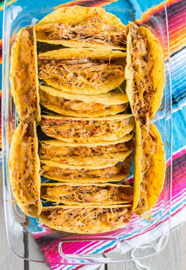 Crunchy Salsa Chicken Tacos- thaicaliente.com