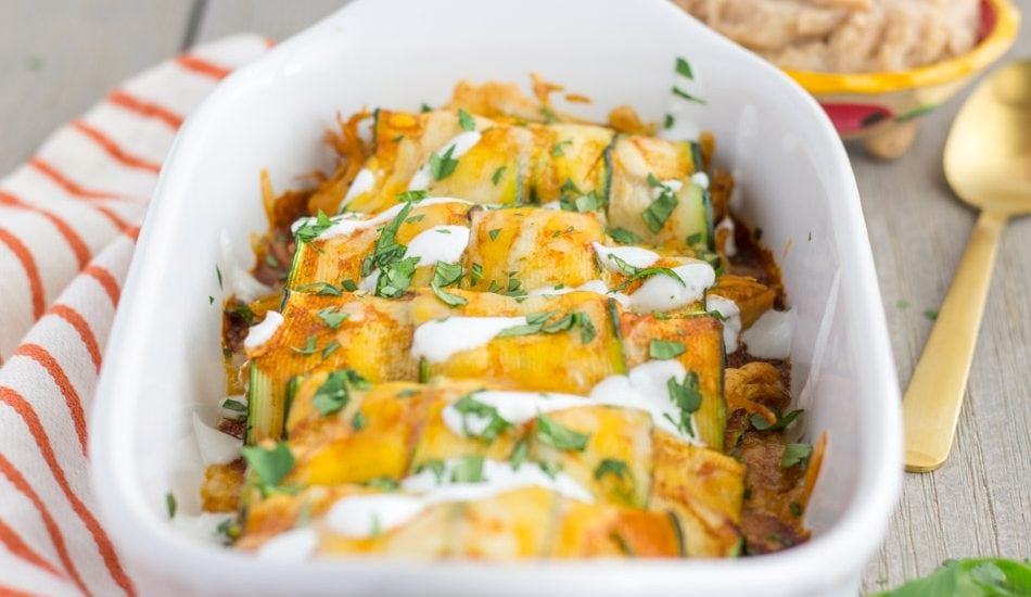 4 Ingredient Zucchini Enchiladas