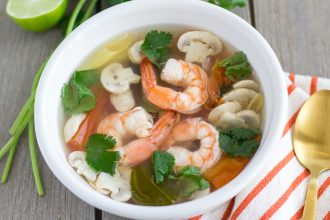 Tom Yum Goong - Thai Spicy and Sour soup with shrimp