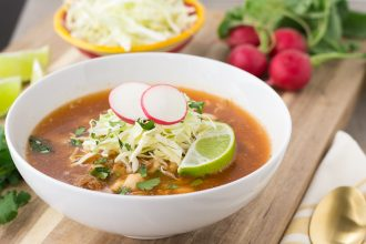 Posole Rojo from Guadalajara- Mexican Pork Stew with Hominy