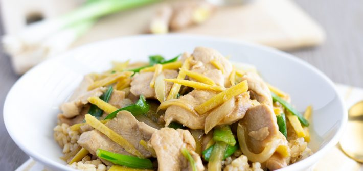 Gai Pad Khing- Thai Chicken with Ginger Stir Fry