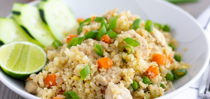 Healthier Thai Fried rice made with cauliflower