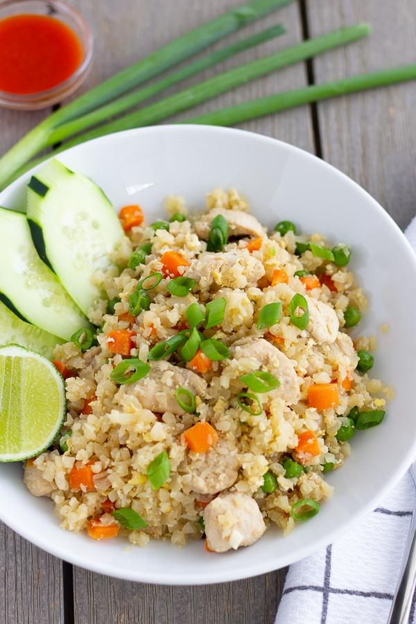 Healthier Thai Fried rice made with cauliflower