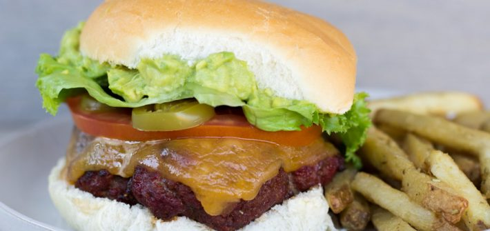 Chorizo Burger with Guacamole