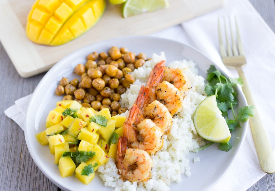 Jerk Shrimp with Coconut Cauliflower Rice