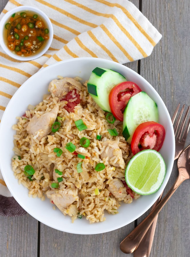 Khoa Phat Gai- Thai Fried Rice with Chicken- ThaiCaliente.com